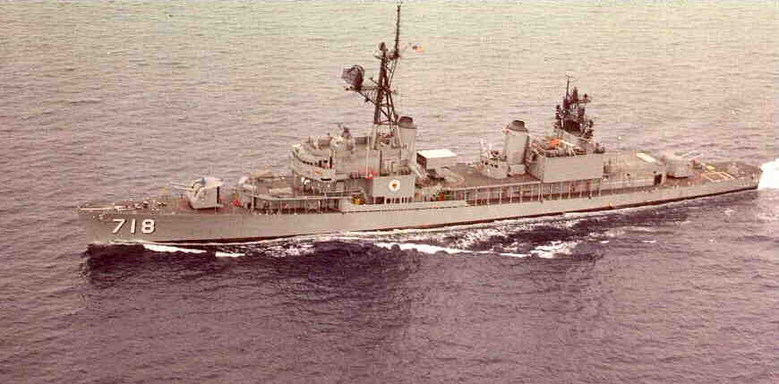 DD 718 USS Hamner, as Framed in 1962 when I worked on her.